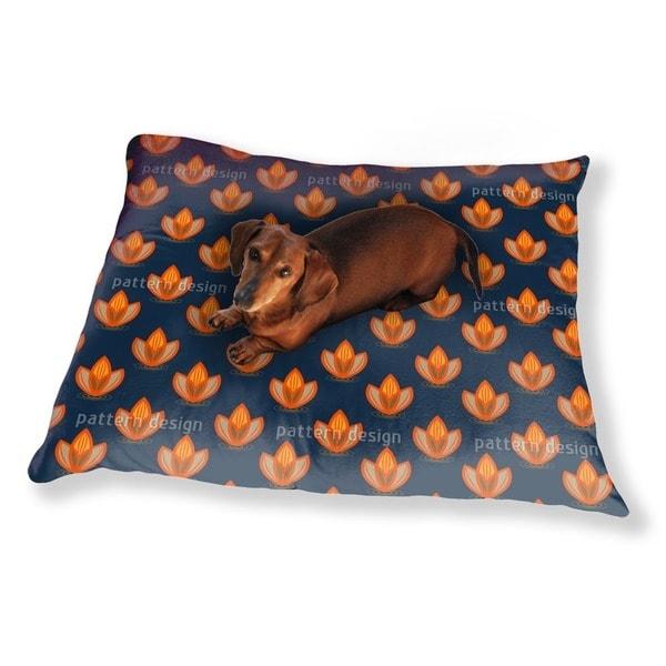 Lotus Orange Dog Pillow Luxury Dog / Cat Pet Bed