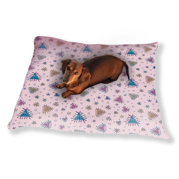 Berry Fall Pink Dog Pillow Luxury Dog / Cat Pet Bed