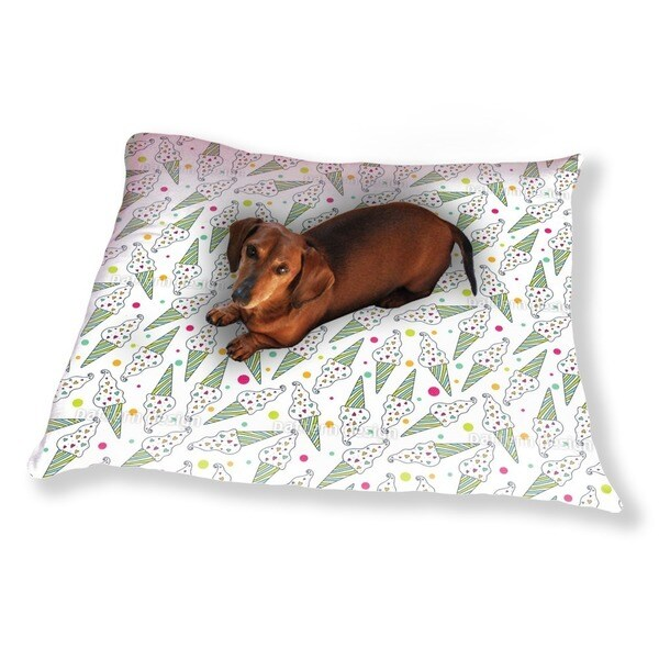 I Love Icecream Dog Pillow Luxury Dog / Cat Pet Bed