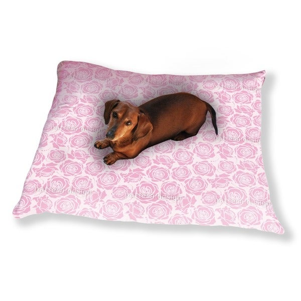 Rose Blossoms Lilac Dog Pillow Luxury Dog / Cat Pet Bed