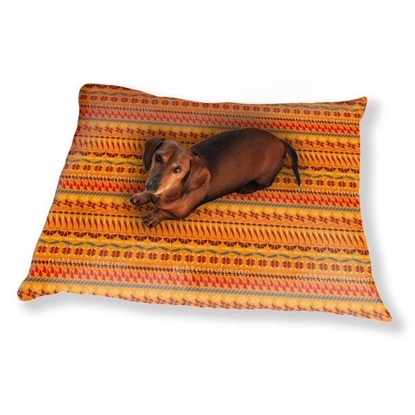 Multi Kulti Orange Dog Pillow Luxury Dog / Cat Pet Bed
