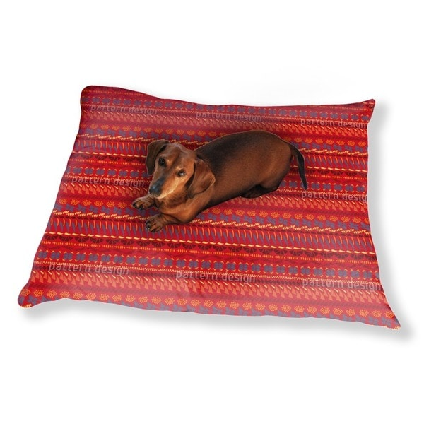 Multi Kulti Red Dog Pillow Luxury Dog / Cat Pet Bed