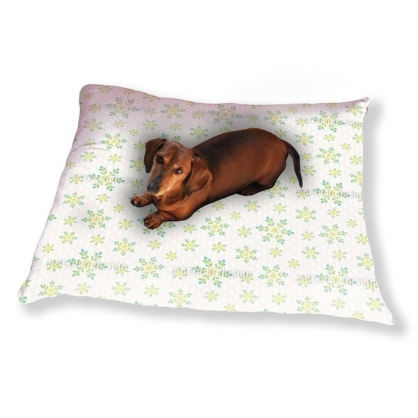 Snowfall In Spring Dog Pillow Luxury Dog / Cat Pet Bed