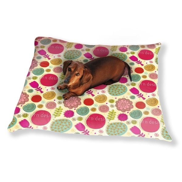 Doodle Flowers Dog Pillow Luxury Dog / Cat Pet Bed