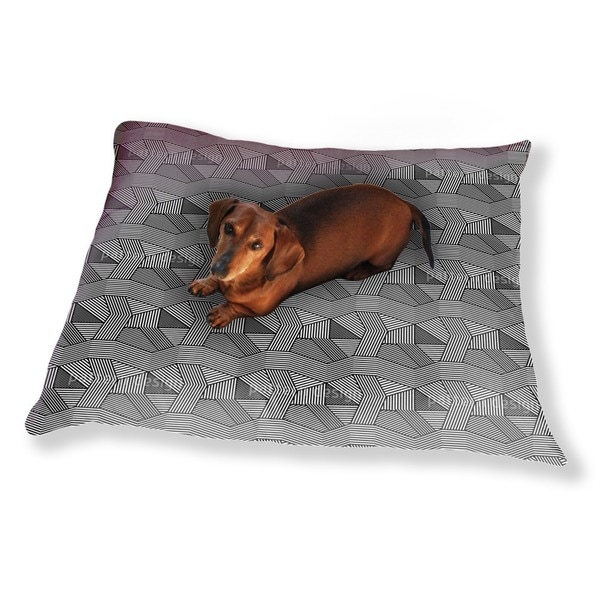 Geometric Chaos Dog Pillow Luxury Dog / Cat Pet Bed