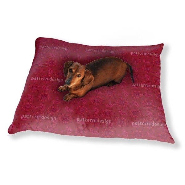 Flora In Cranberry Dog Pillow Luxury Dog / Cat Pet Bed