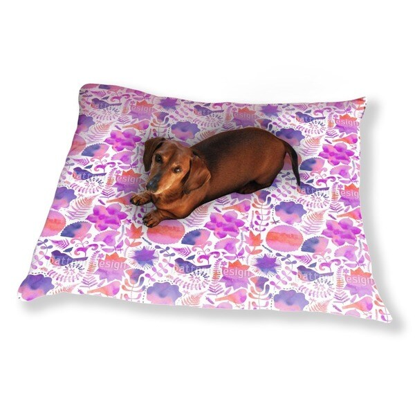 Naturally Watercolor Dog Pillow Luxury Dog / Cat Pet Bed