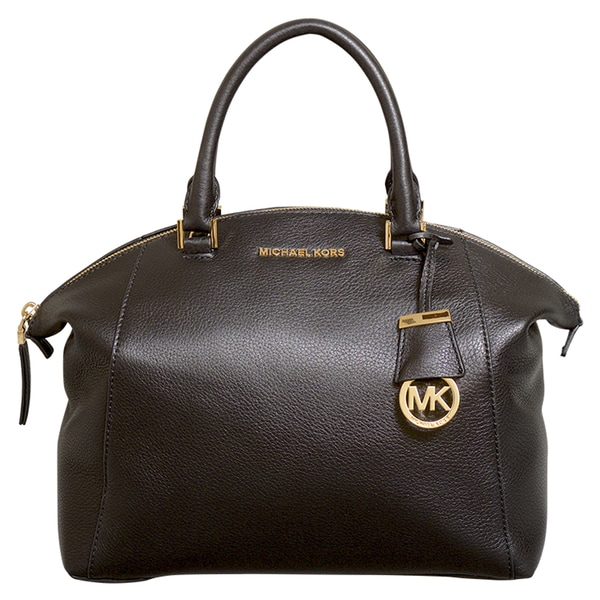 Michael Kors Riley Medium Black Satchel Handbag