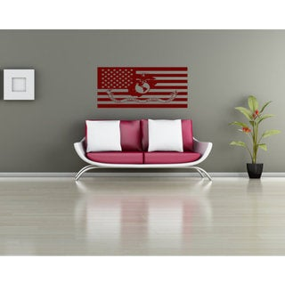 Marine Decal Marine Sticker Marine Flag Wall Art The Few The Proud The Marines Sticker Decal size 48x76 Color Black
