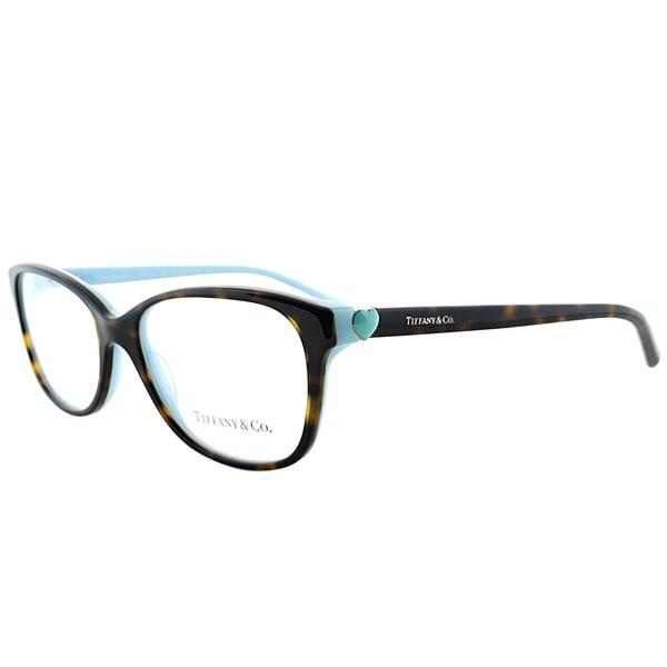 Tiffany TF 2097 8134 Dark Havana on Tiffany Blue Plastic 52-millimeter Rectangle Eyeglasses