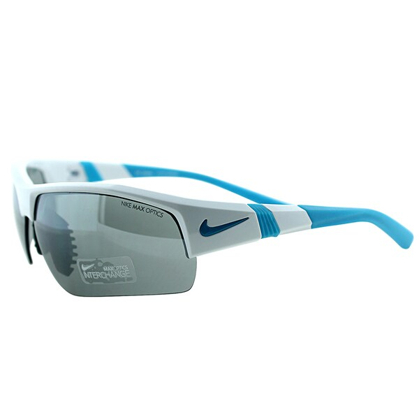 Nike EVO 678 144 Show X2 Pro White Electric Blue Plastic Sport Grey Interchangeable Lens Sunglasses