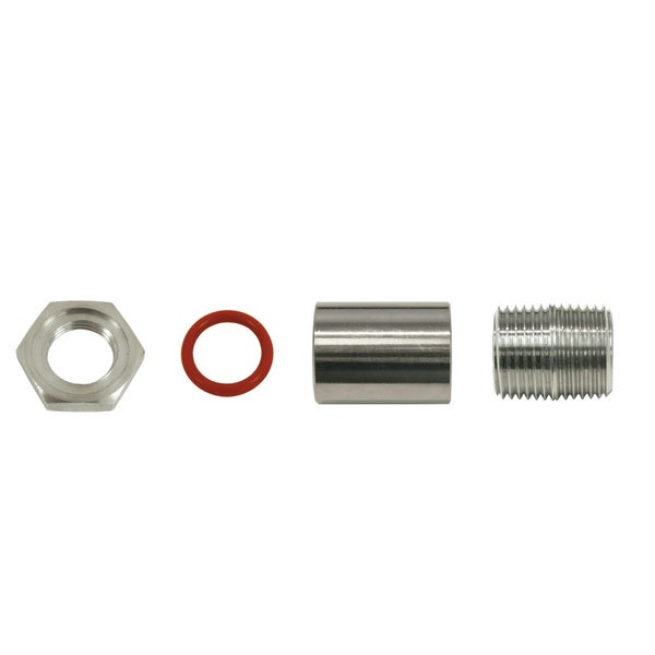 Bayou Clasic 6-piece Stainless Steel, Silicone Bulkhead Fitting Set