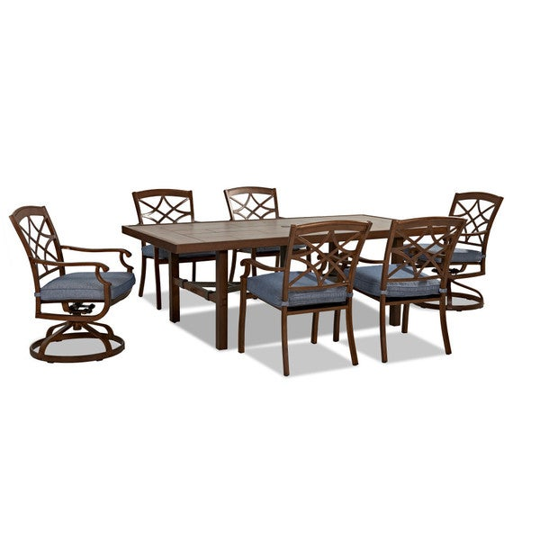 Trisha Yearwood Outdoor Dining Set in Demo Denim