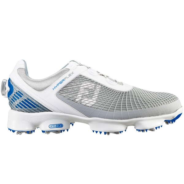 FootJoy HyperFlex BOA Golf Shoes 51053 White/Light Grey/Blue