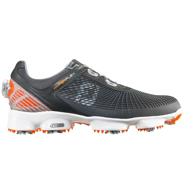 FootJoy HyperFlex BOA Golf Shoes 51061 Charcoal/Orange