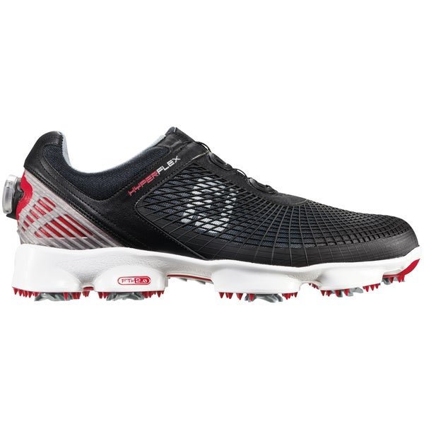 FootJoy HyperFlex BOA Golf Shoes 51078 Black/Red