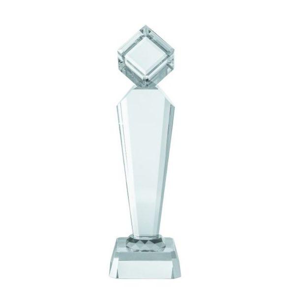 Benzara Crystal Cube Trophy