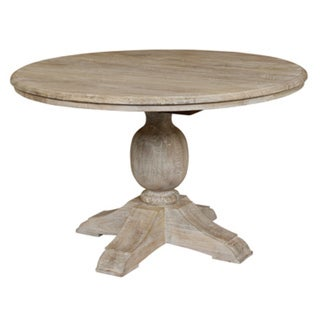 "Kosas Home Valencia Antique White 60"" Mango Wood Table"