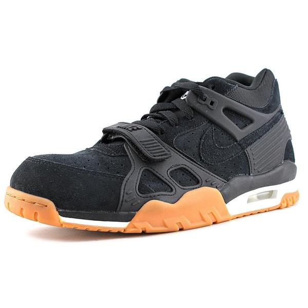 Nike Men's 'Air Trainer 3 PRM ' Black Leather Athletic Shoes