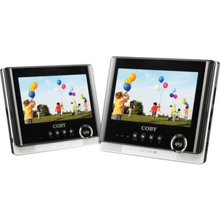 Coby TFDVD7752 Black 7-inch Dual-screen Portable Tablet DVD Player