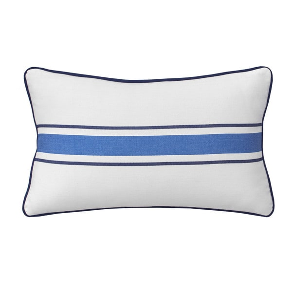 Southern Tide Dock Street Stripe Woven Stripe Throw Pillow