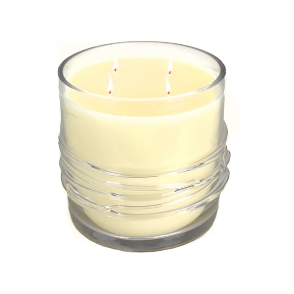 Cote D' Azur Wax Candle in a Clear Glass Holder