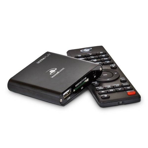 IncrediSonic Vue Series IMP150+ 1080p Full HD Ultra-Portable Digital Media Player for USB Drives and SD/SDHC Cards