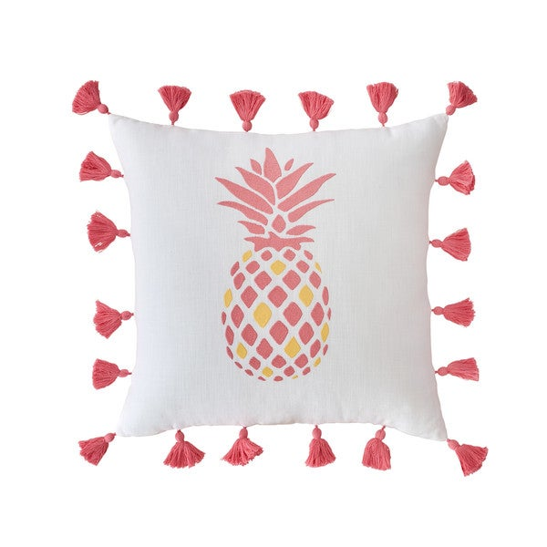 Southern Tide Coastal Ikat Embroidered Pineapple Throw Pillow