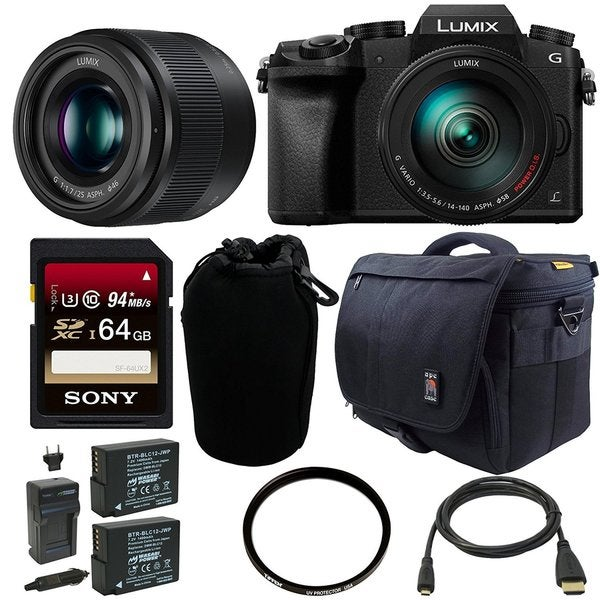 Panasonic Lumix DMC-G7 Mirrorless Digital Camera w/ 14-140mm & 25mm Lens Bundle 22259857