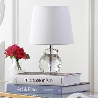 "Safavieh Lighting 13-inch Eunice Crystal Table Lamp - 9""x9""x13"""