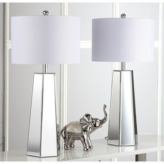 """Safavieh Lighting 32-inch Janice Clear/ Off-White Table Lamp (Set of 2) - 15""""x15""""x31.5"""""""