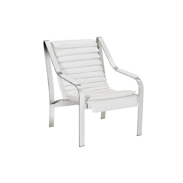 CANBERRA CHAIR - WHITE LEATHER
