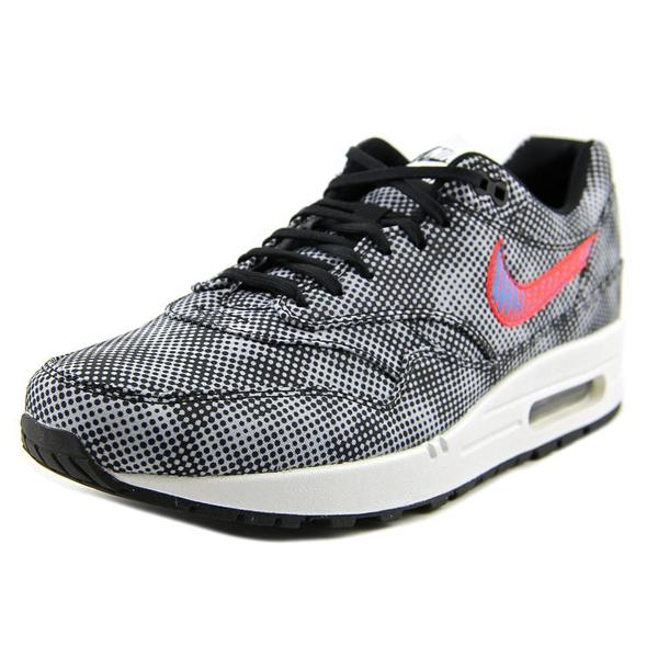 Nike Men's Air Max 1 FB QS Black and White Synthetic Athletic Shoes