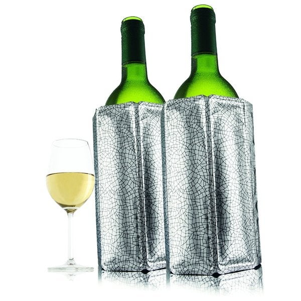 Vacu Vin Active Wine Cooler Silver (Set of 2)