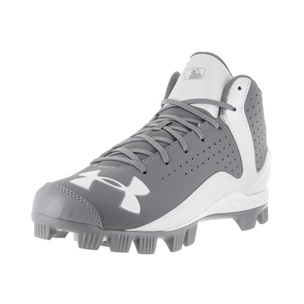 Under Armour Men's UA Leadoff Grey Fabric Baseball Cleats 22264527