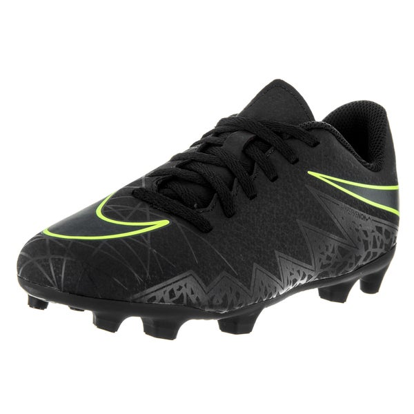 Nike Kids JR Hypervenom Phade II Black Volt Soccer Cleat