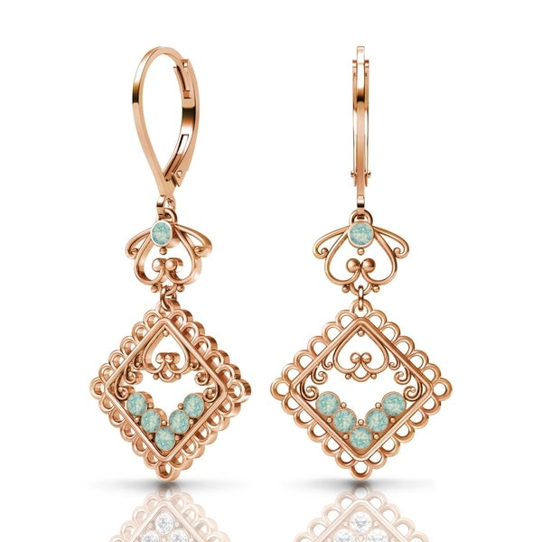 Sterling Silver Earrings by Lucia Costin Swarovski Crystals 22264954