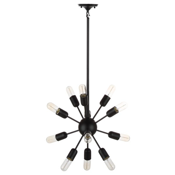 Safavieh Lighting Raging 12 Light Black 17.5-Inch Solace Pendant