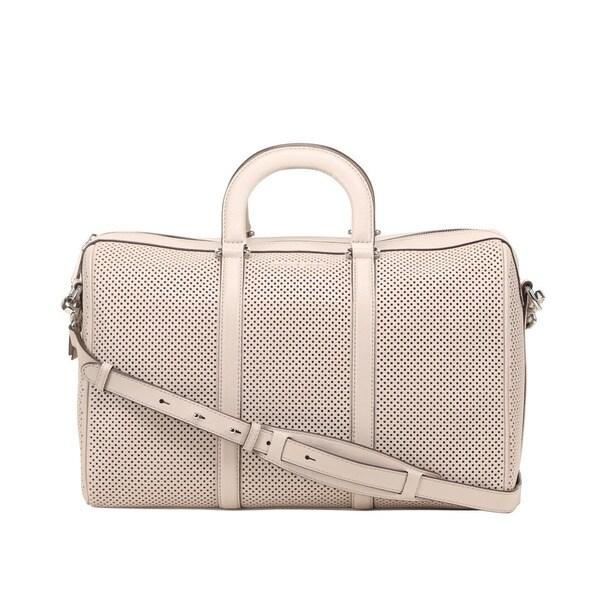 Michael Kors Libby Large Cement Shoulder Handbag