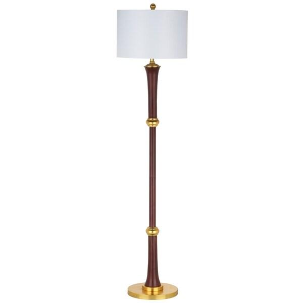 Safavieh Lighting Modern 63-Inch Gold Trim Skinny Shade Floor Lamp