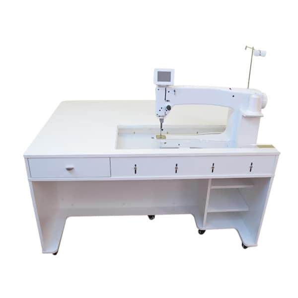 Arrow Sewing Cabinet 1311 Model Quilty Cabinet Crisp White MDF and Melamine Laminate Sewing Machine Table