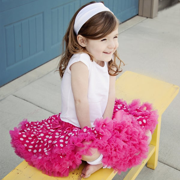 Girl's Hot Pink Polka Dot Tutu