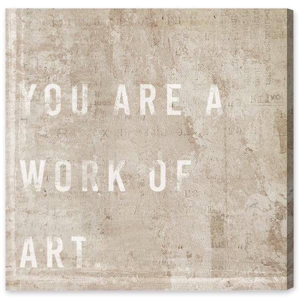 """""""Work of Art"""" Canvas Art"""
