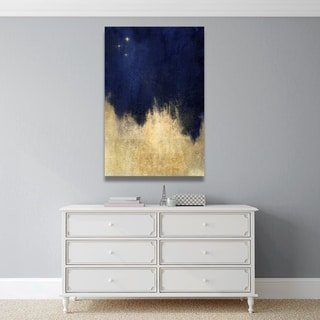 Oliver Gal 'Stars at Midnight' Abstract Wall Art Canvas Print - Blue, Gold