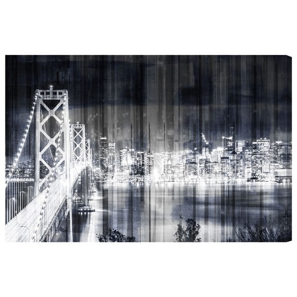 "Oliver Gal ""City Lights Never Sleep"" Canvas Art"