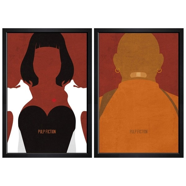 "Hatcher and Ethan ""Pulp Fiction Set of 2"" Framed Art"