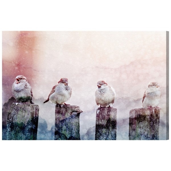 """Good Day Birds"" Canvas Art"