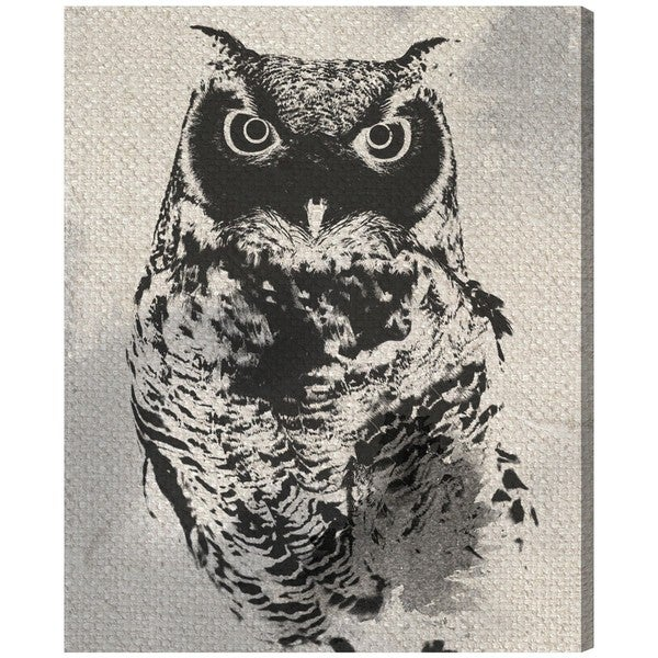 "Oliver Gal ""Owl Silhouette"" Canvas Art"