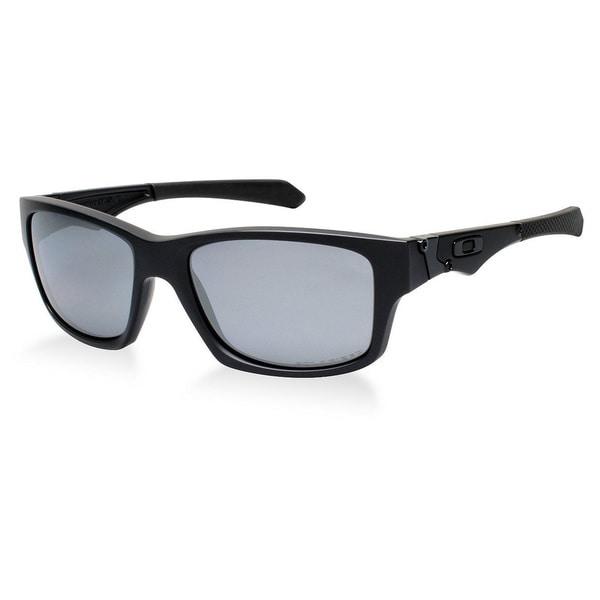 Oakley Men's Jupiter Matte Black and Black Iridium Polarized Lens Plastic Square Sunglasses