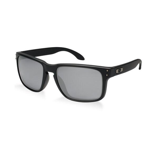 Oakley Men's Holbrook Matte Black Rectangular Sunglasses